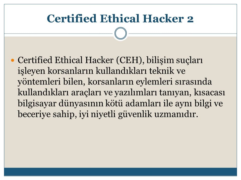 Certified Ethical Hacker 2