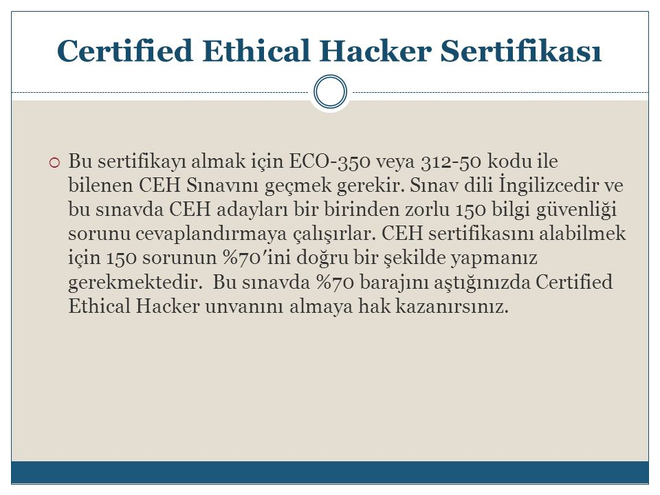 Certified Ethical Hacker Sertifikası