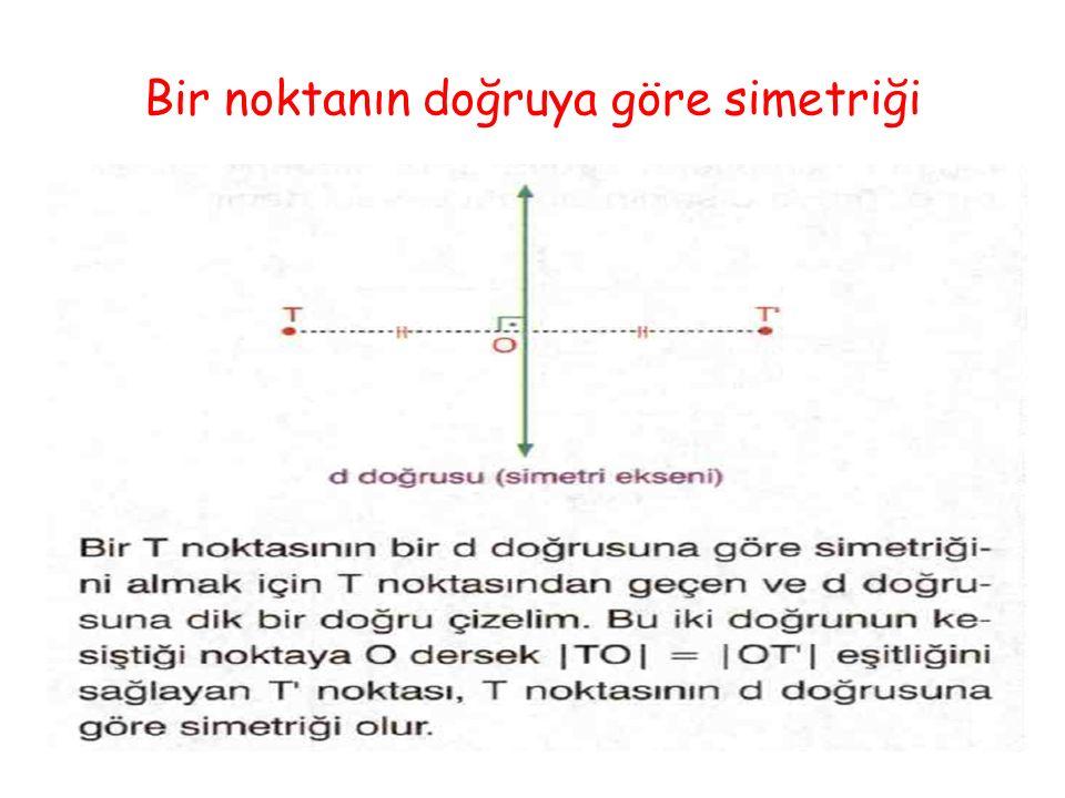 Bir noktanın doğruya göre simetriği