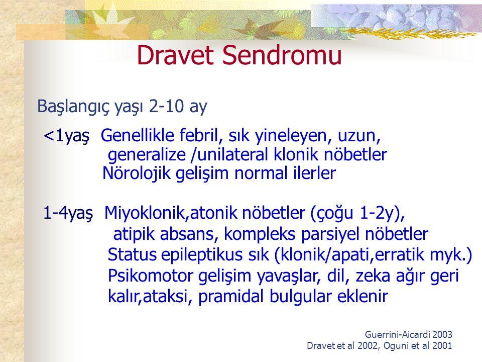 Dravet Sendromu Başlangıç yaşı 2-10 ay