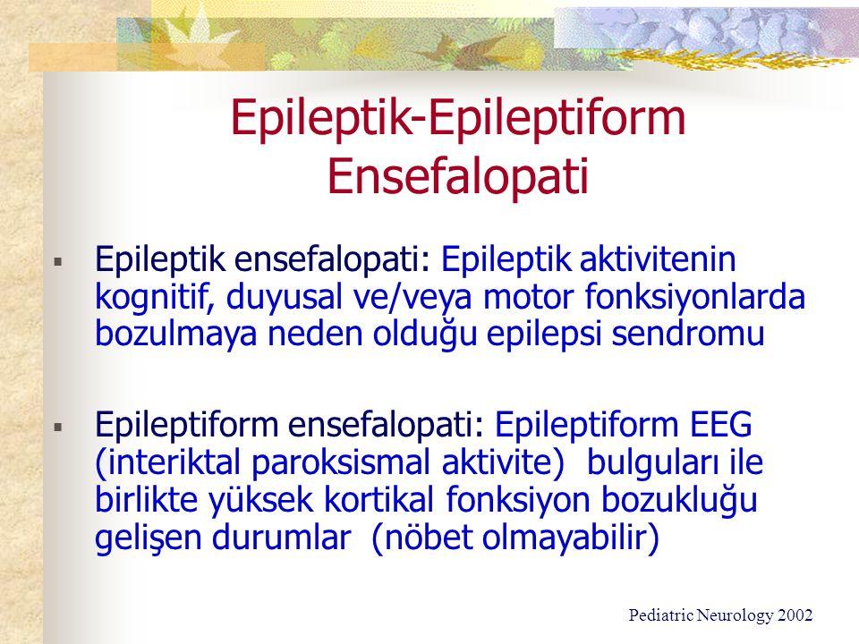Epileptik-Epileptiform Ensefalopati