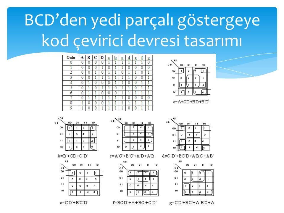 BCD'den yedi parçalı göstergeye kod çevirici devresi tasarımı