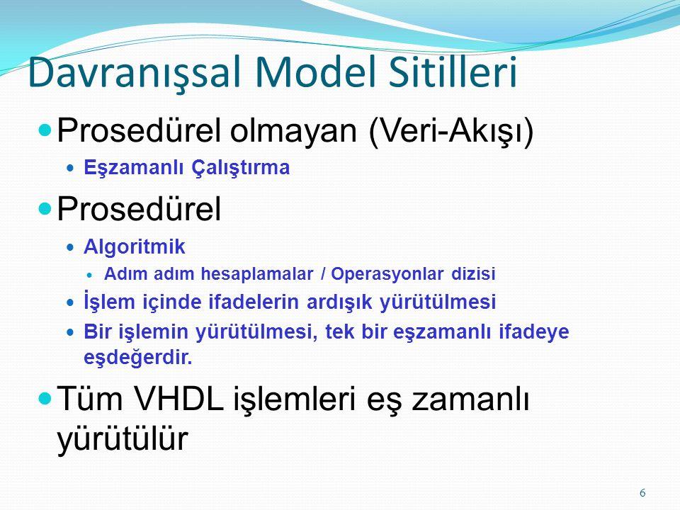 Davranışsal Model Sitilleri