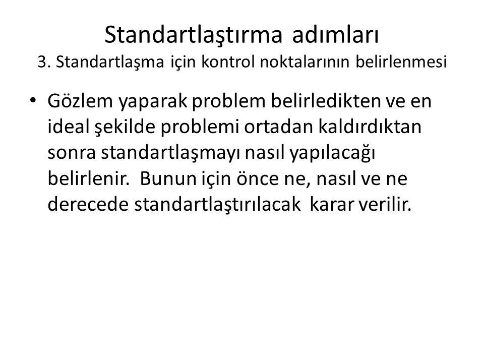 Standartlaştırma adımları 3