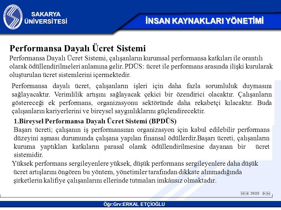 Performansa Dayalı Ücret Sistemi