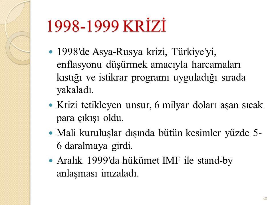 1998-1999 KRİZİ