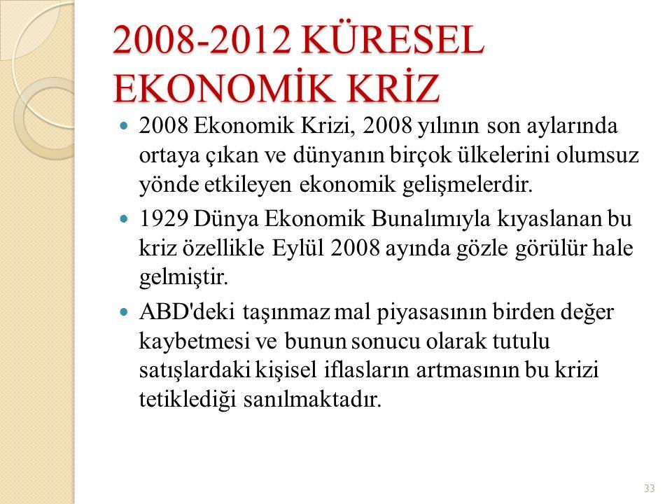 2008-2012 KÜRESEL EKONOMİK KRİZ