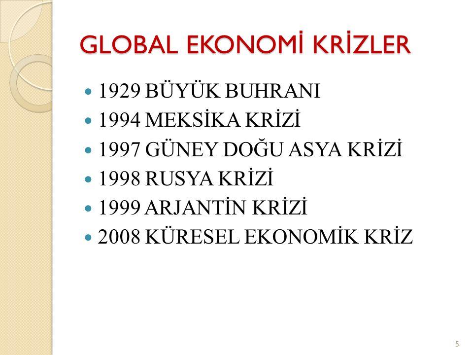 GLOBAL EKONOMİ KRİZLER