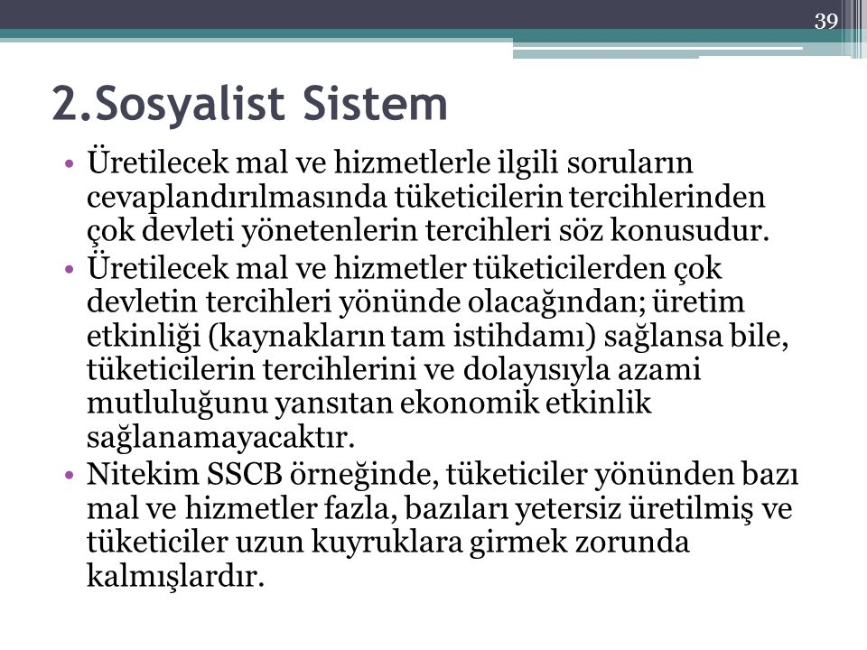 2.Sosyalist Sistem