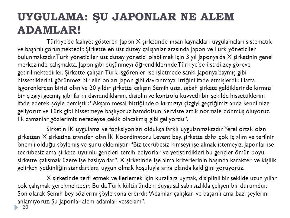 UYGULAMA: ŞU JAPONLAR NE ALEM ADAMLAR!