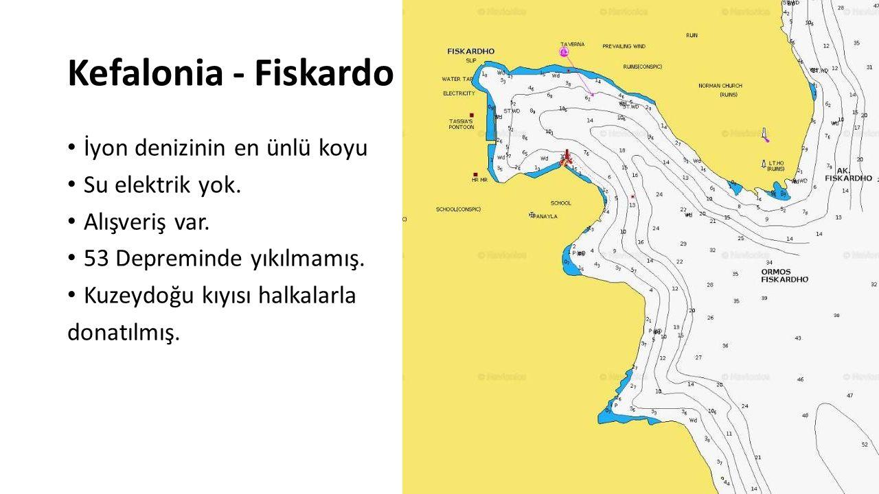 Kefalonia - Fiskardo İyon denizinin en ünlü koyu Su elektrik yok.