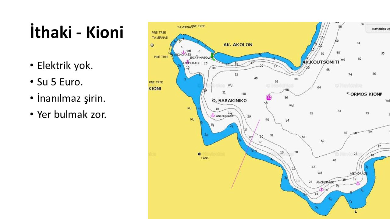 İthaki - Kioni Elektrik yok. Su 5 Euro. İnanılmaz şirin.