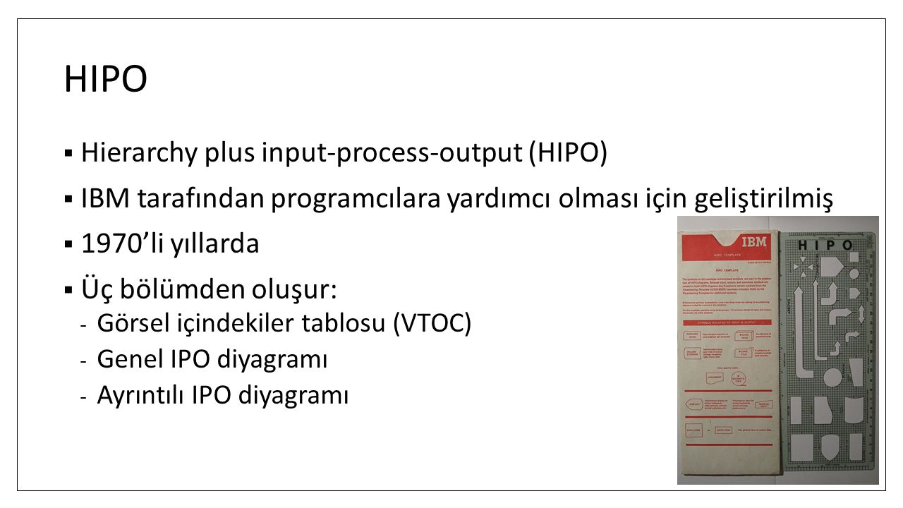 HIPO Hierarchy plus input-process-output (HIPO)