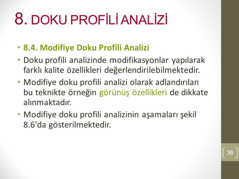 8. DOKU PROFİLİ ANALİZİ 8.4. Modifiye Doku Profili Analizi
