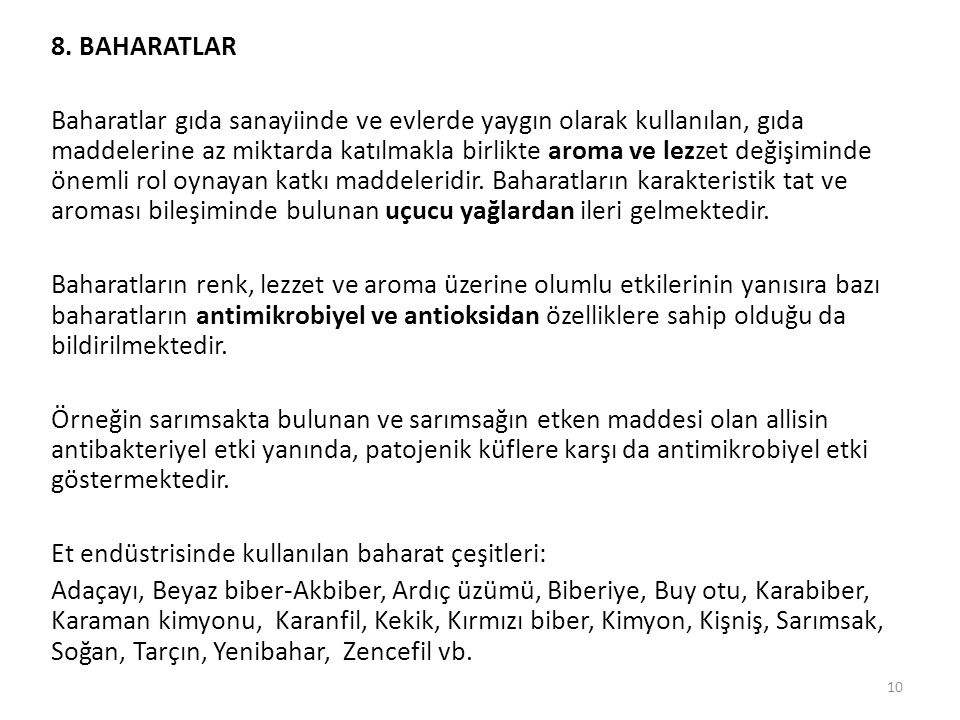8. BAHARATLAR