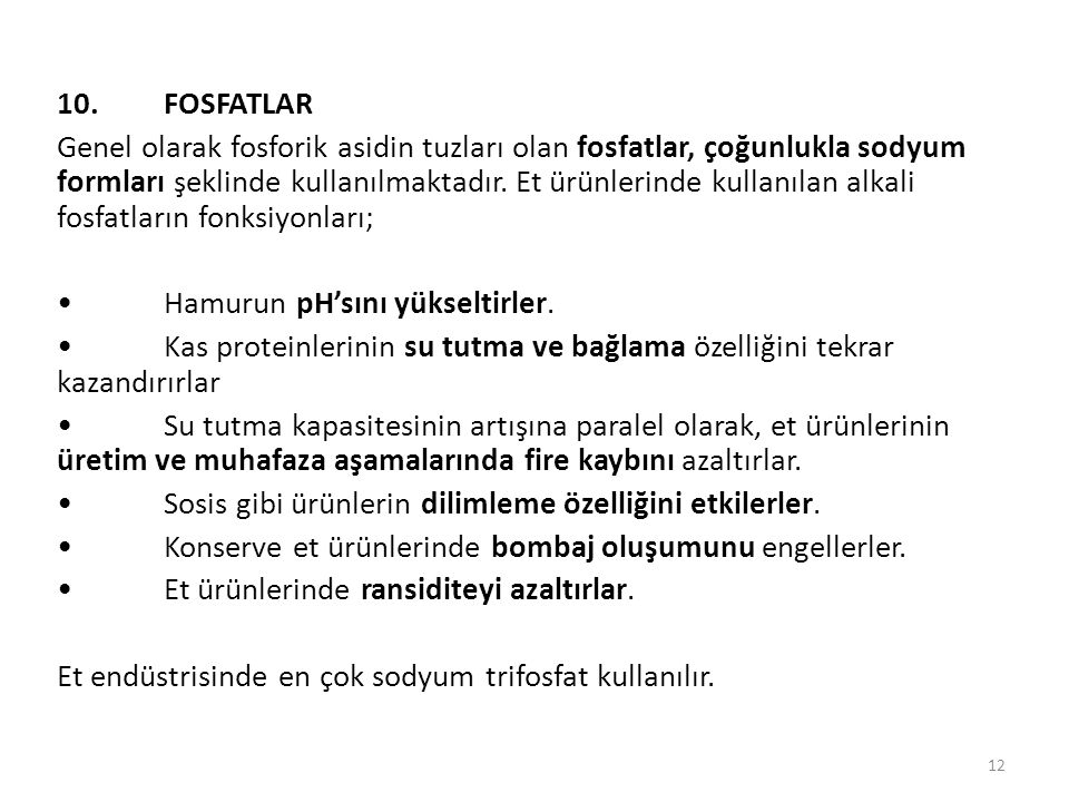 10. FOSFATLAR