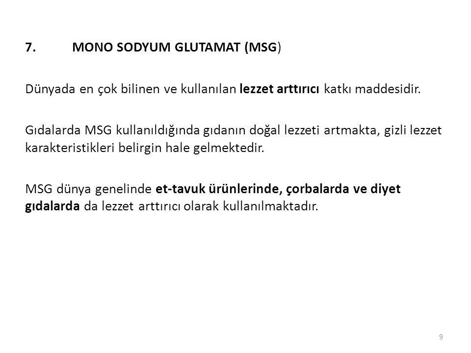 7. MONO SODYUM GLUTAMAT (MSG)