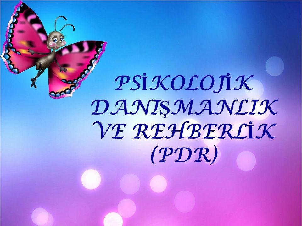 PSİKOLOJİK DANIŞMANLIK VE REHBERLİK (PDR)