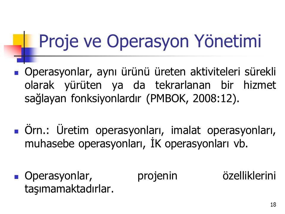 Proje ve Operasyon Yönetimi