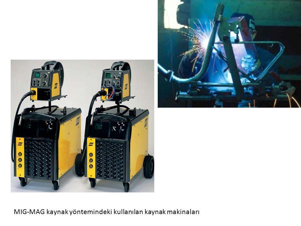 MIG-MAG kaynak yöntemindeki kullanılan kaynak makinaları