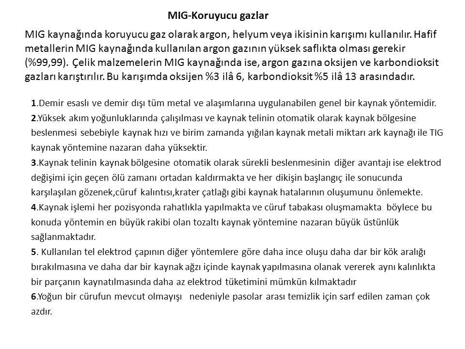 MIG-Koruyucu gazlar