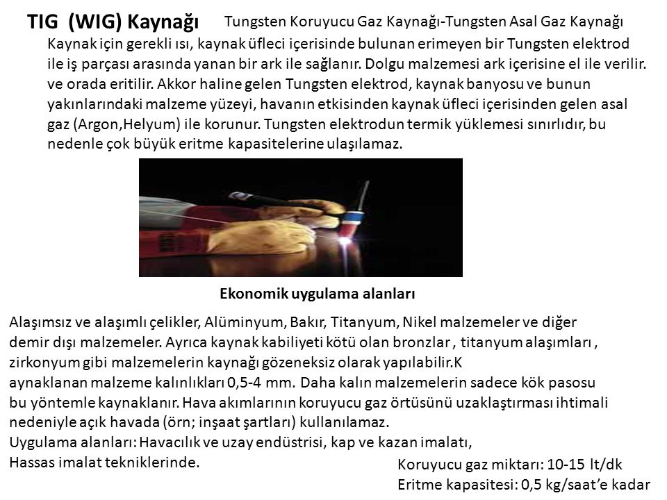 TIG (WIG) Kaynağı Tungsten Koruyucu Gaz Kaynağı-Tungsten Asal Gaz Kaynağı.