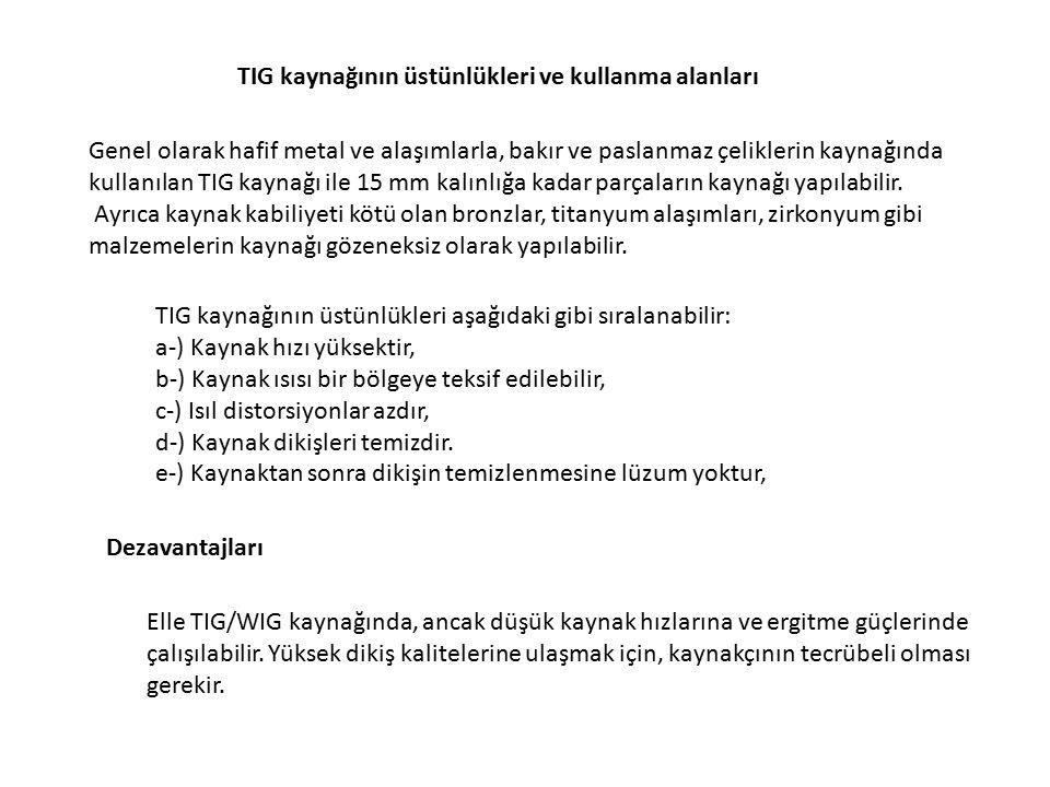 TIG kaynağının üstünlükleri ve kullanma alanları