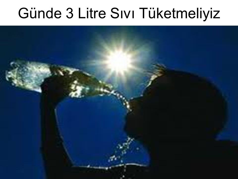 Günde 3 Litre Sıvı Tüketmeliyiz