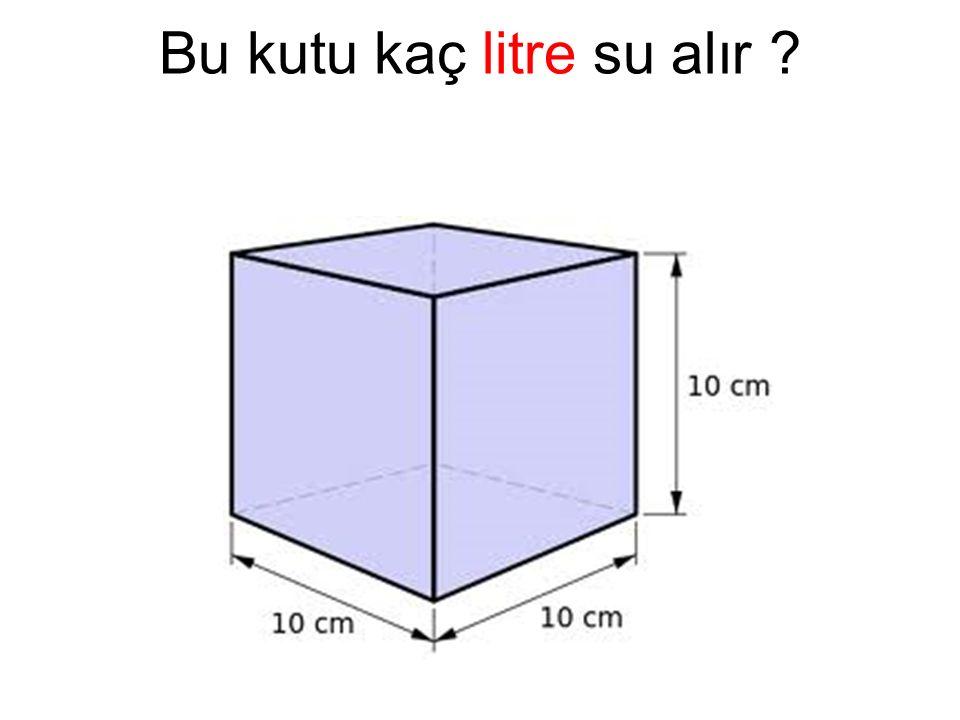 Bu kutu kaç litre su alır