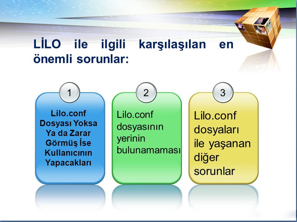 LİLO ile ilgili karşılaşılan en önemli sorunlar: