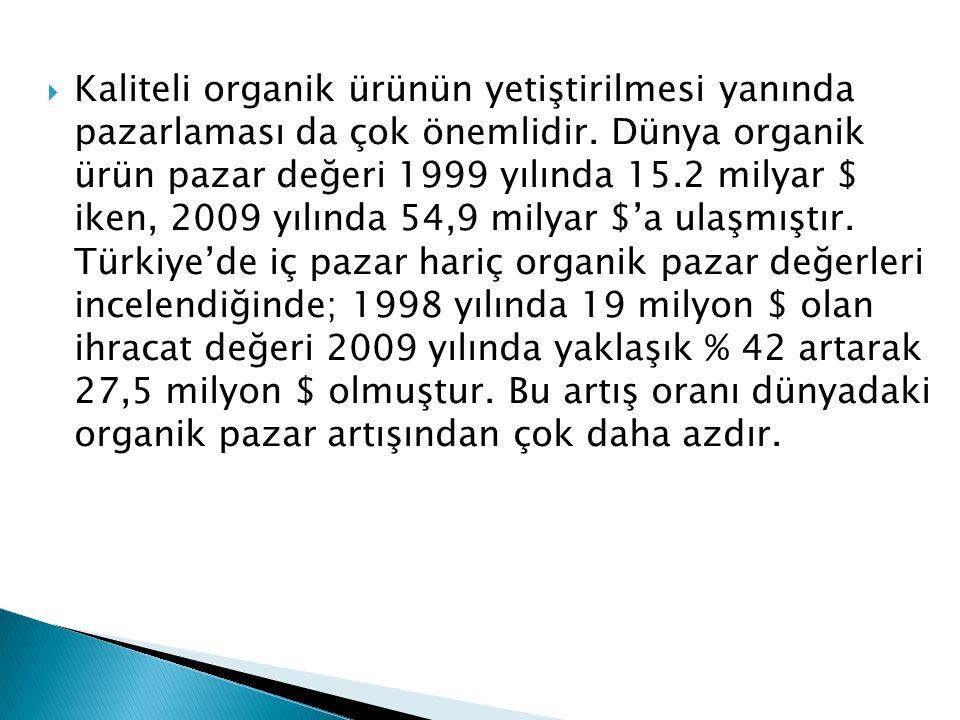 Kaliteli organik ürünün yetiştirilmesi yanında pazarlaması da çok önemlidir.
