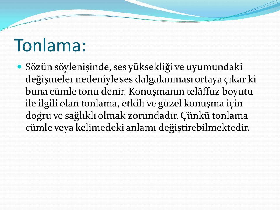 Tonlama: