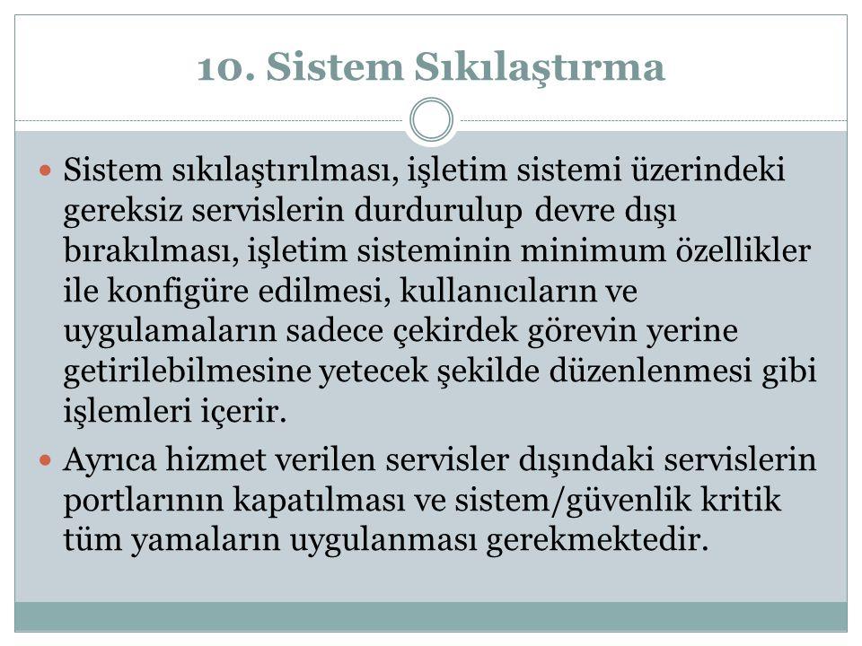 10. Sistem Sıkılaştırma