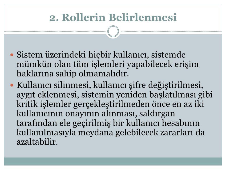 2. Rollerin Belirlenmesi