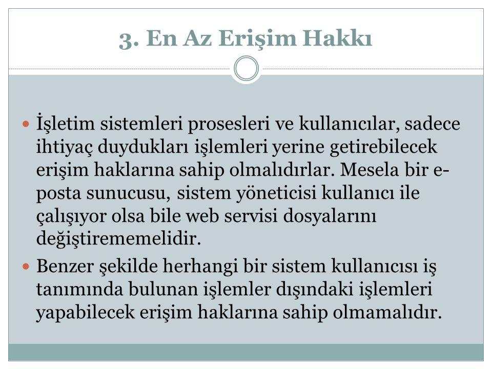3. En Az Erişim Hakkı