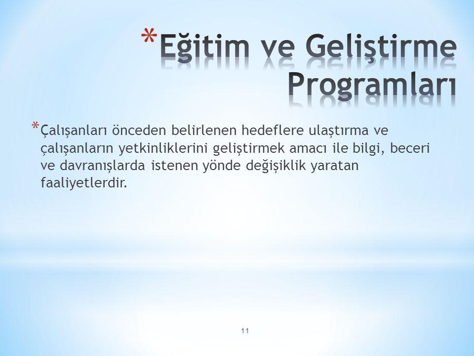 Eğitim ve Geliştirme Programları