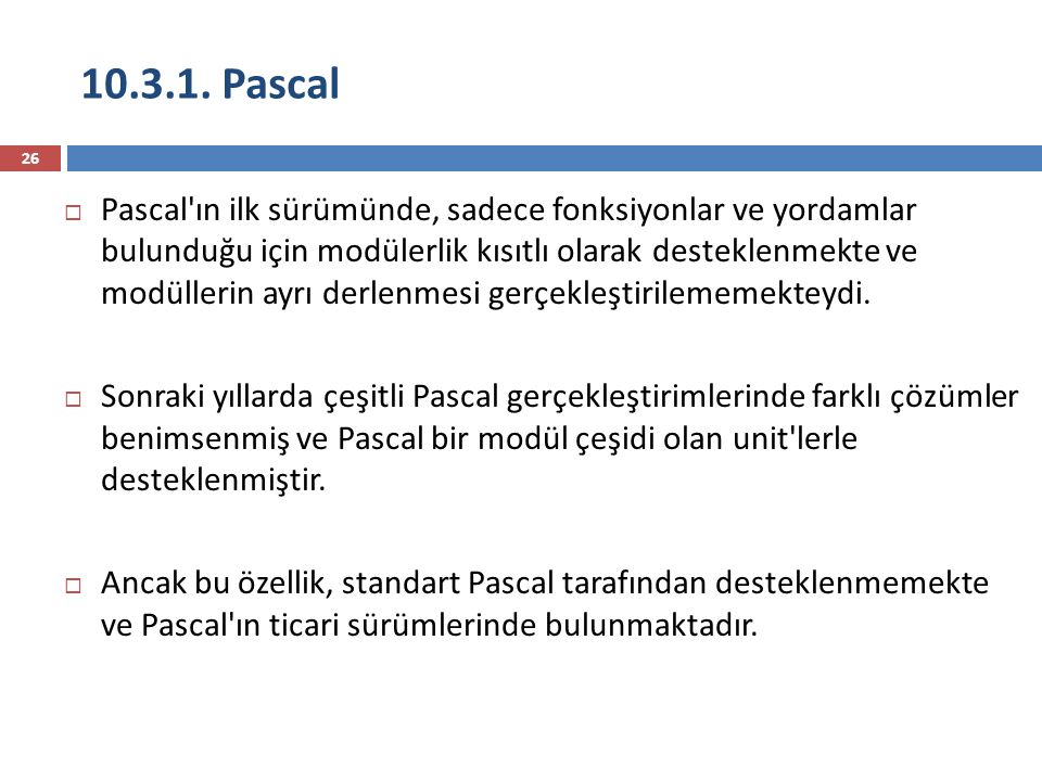 10.3.1. Pascal