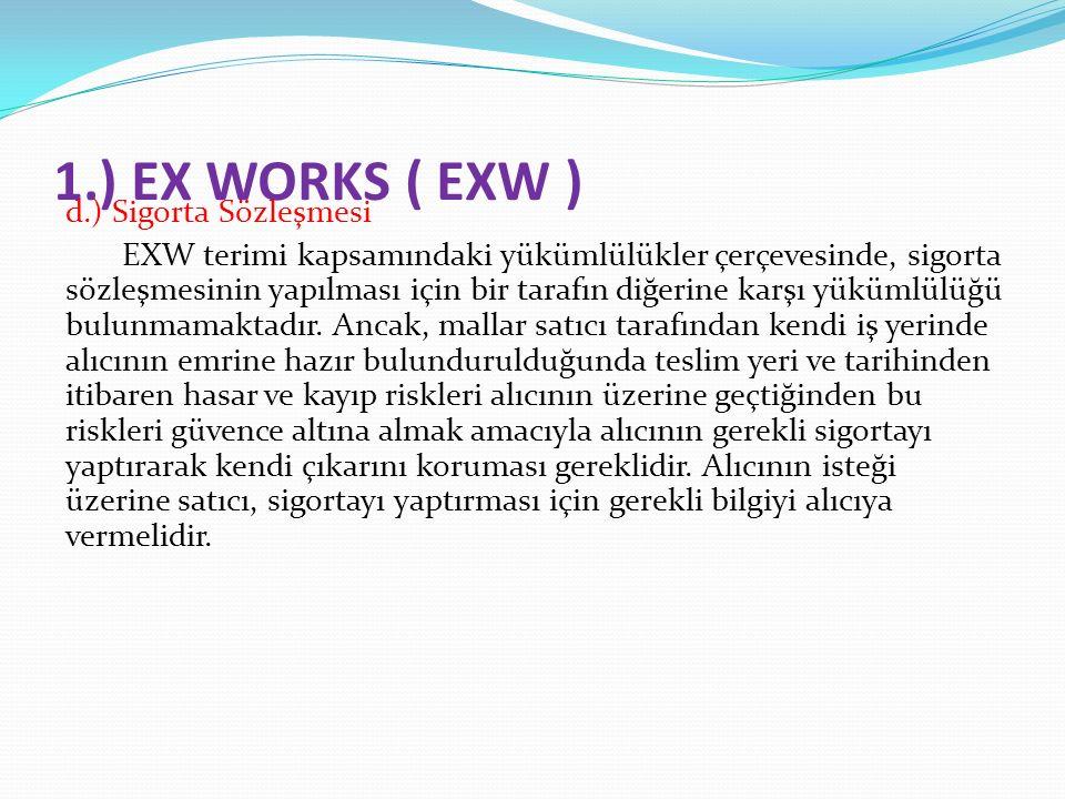 1.) EX WORKS ( EXW )