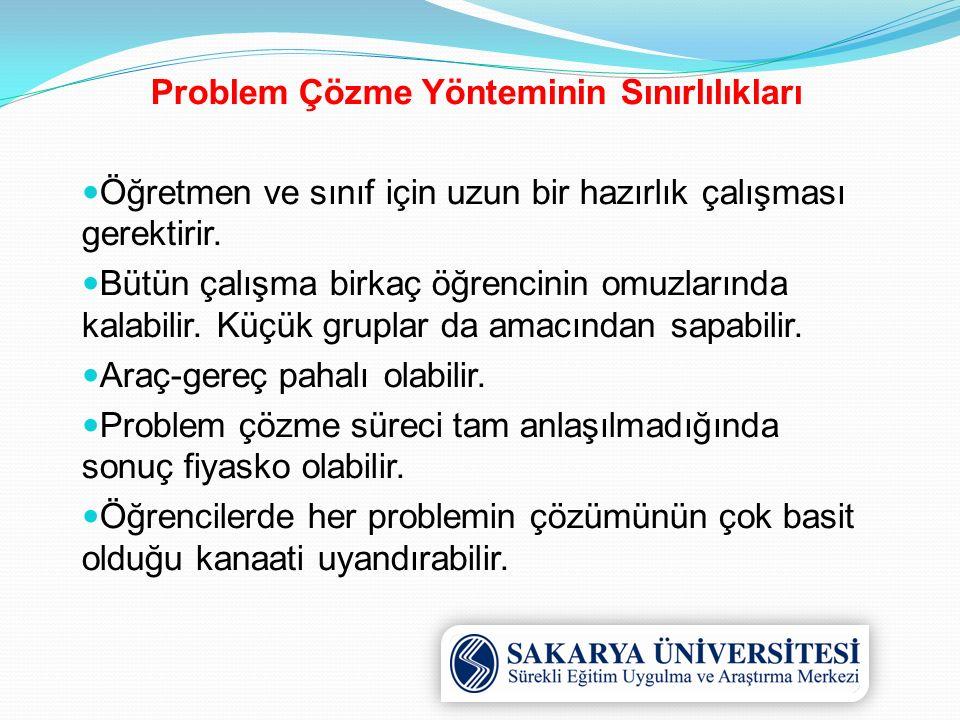 Problem Çözme Yönteminin Sınırlılıkları