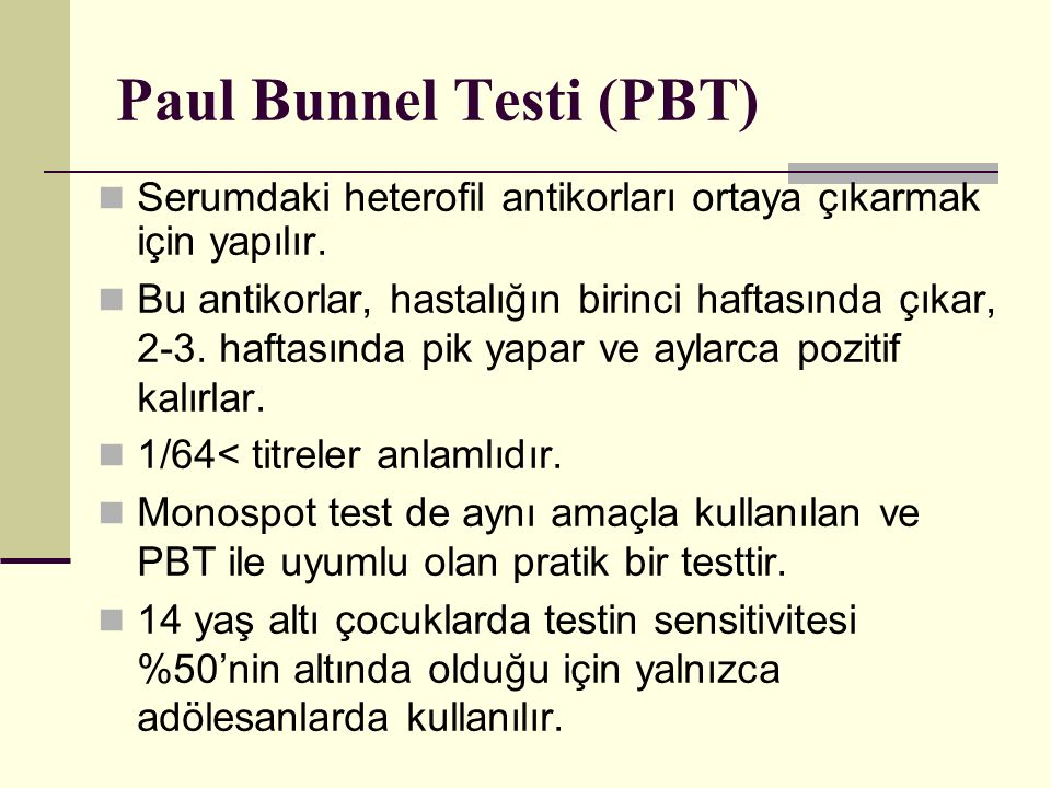 Paul Bunnel Testi (PBT)