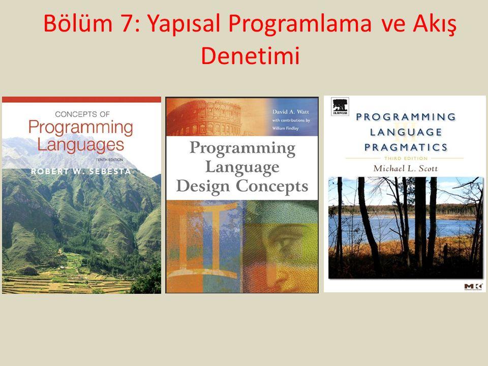 Bölüm 7: Yapısal Programlama ve Akış Denetimi