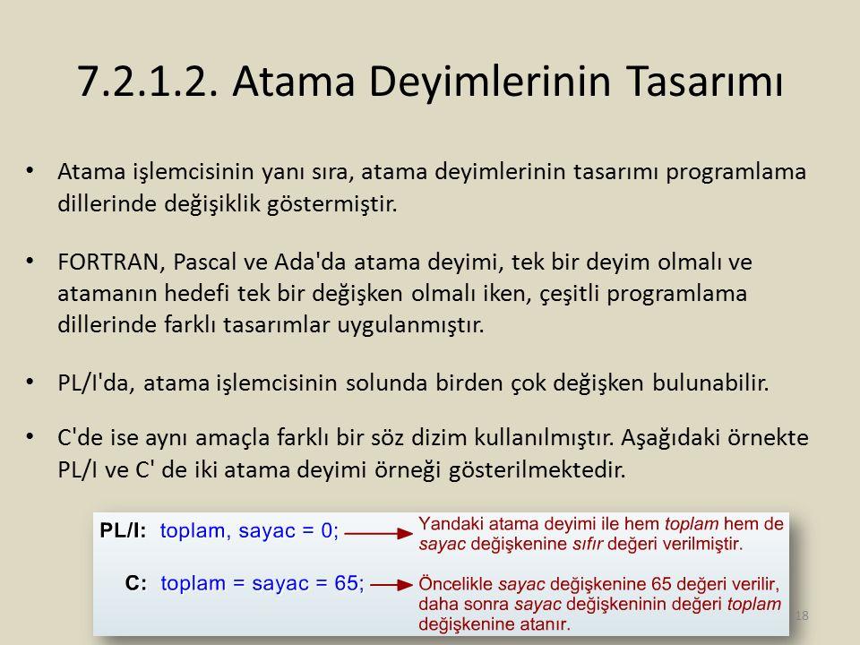7.2.1.2. Atama Deyimlerinin Tasarımı