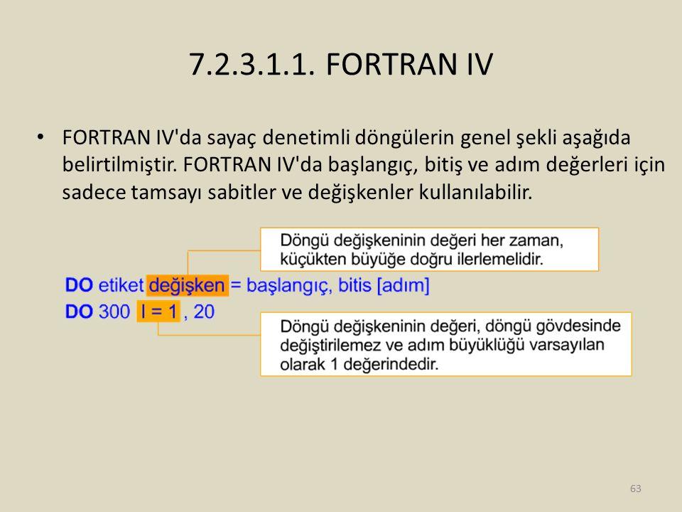 7.2.3.1.1. FORTRAN IV