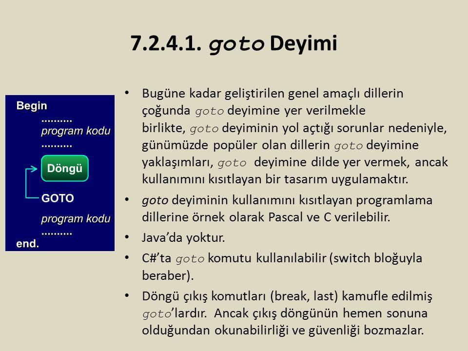 7.2.4.1. goto Deyimi