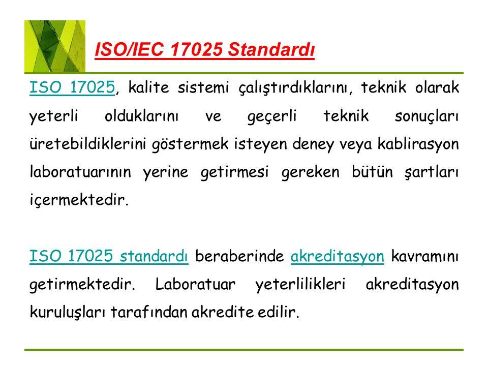 ISO/IEC 17025 Standardı