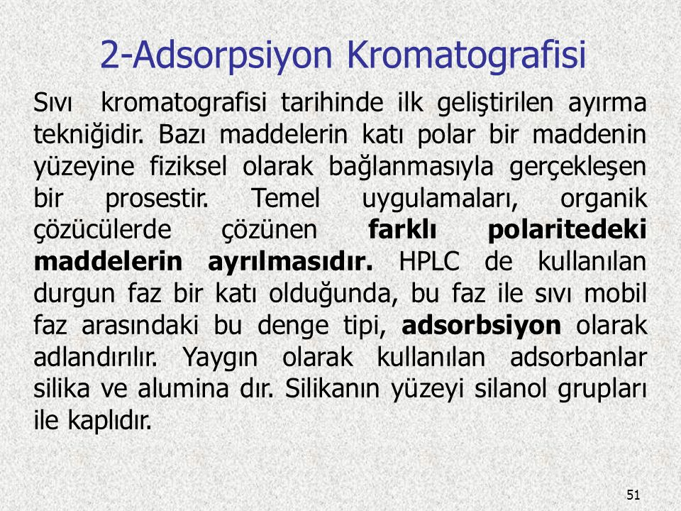 2-Adsorpsiyon Kromatografisi