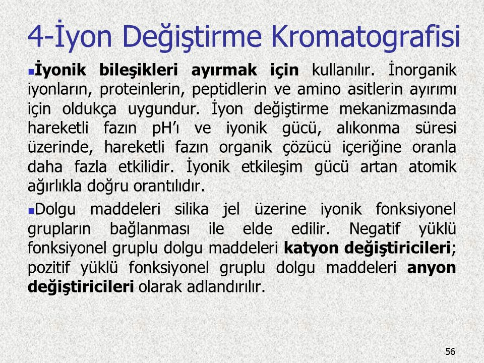 4-İyon Değiştirme Kromatografisi