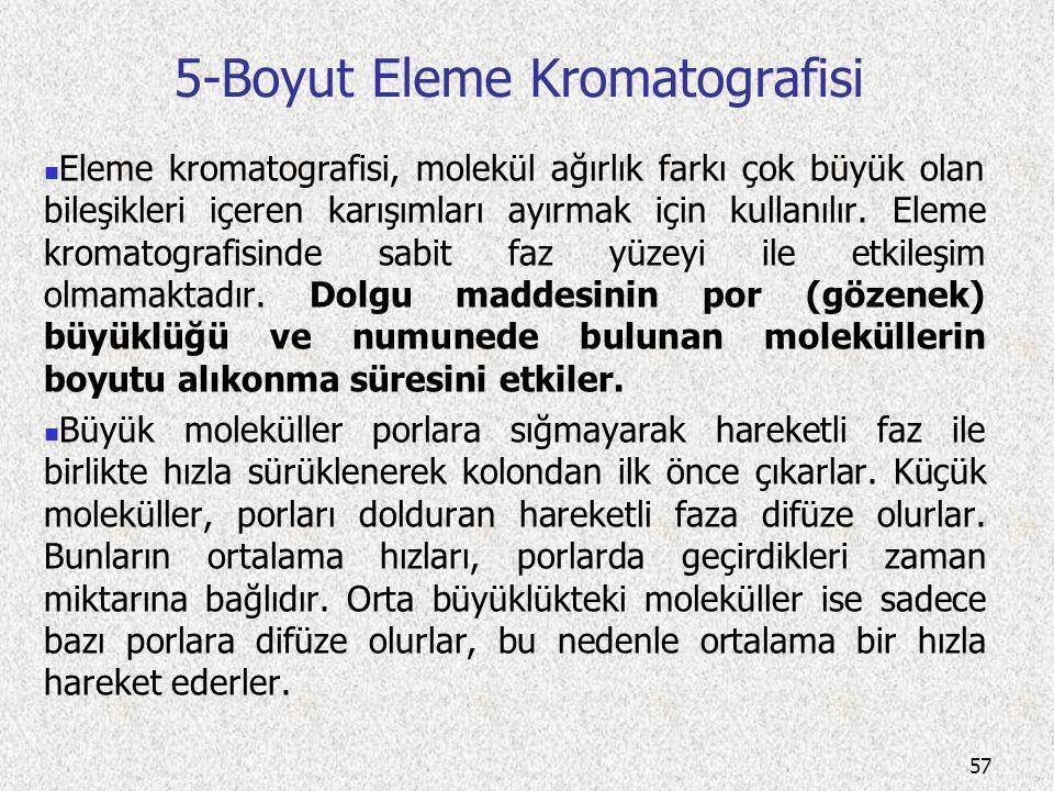 5-Boyut Eleme Kromatografisi