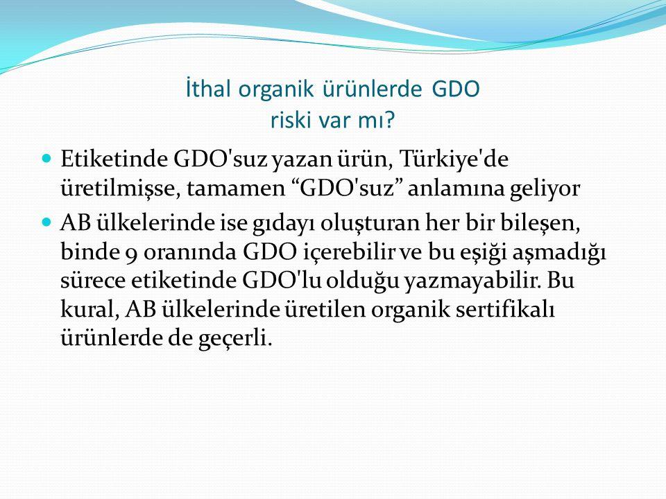 İthal organik ürünlerde GDO riski var mı