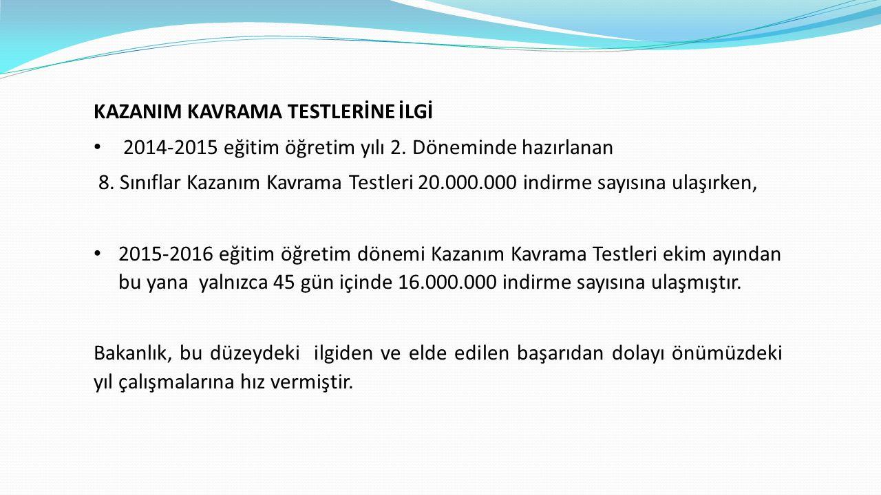 KAZANIM KAVRAMA TESTLERİNE İLGİ